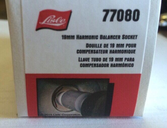19MM Harmonic Balancer Socket for Honda LISLE 77080